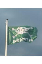 Fischkopf Hiss-Fahne grün